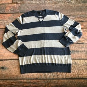 Banana Republic Silk Linen Striped Sweater